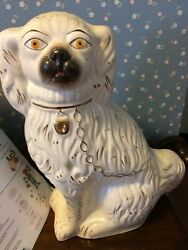 Antique Staffordshire Dog Figurines With Gold