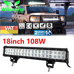 17/18inch 108w Led Work Light Bar Combo Beam Offroad Suv 4x4 Driving Truck Jeep