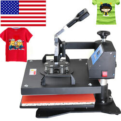 Swing Away Heat Press Machine Transfer Sublimation T-Shirt Cup Hat Bag
