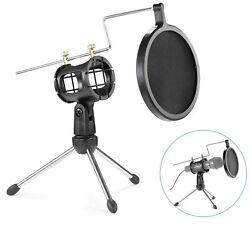 Small Mic Stand Wireless Microphone Holder External Condenser Gaming Desk Vocal