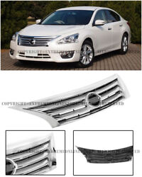 For 13-15 Nissan Altima JDM Style Front Bumper Conversion Chrome Grille Cover