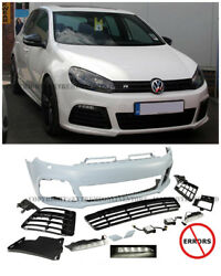 R20 Style Front Bumper Cover Fog Lights Grille For 10-14 Vw Golf Gti Mk6 No Pdc