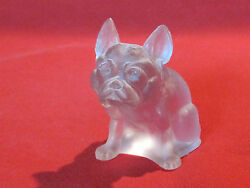 Westmoreland frosted glass bulldog figurine