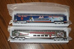 Lot Of 2 Model Trains Ny Mets And Tampabay Buccaneers Licensed Nfl Mlb New