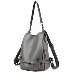 Womens & Girls Casual Leather Backpack Purse Satchel Shoulder School Bags for