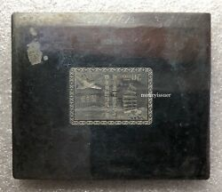 China Post Office 50th Anniversary $50 Stamp Steel Gravure Carving Plate Unique