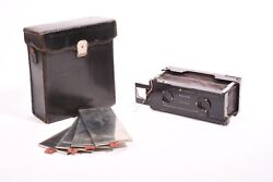 Block-notes Stereo Camera By Gaumont Anastigmat Her Lens. Case And 3 Holders