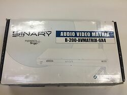 Binary Componet 6X4 Matrix Switcher w analog audio B-200 -Avmatrix -6X4
