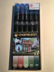 Chameleon Nature Tones Pen Set CT0514 Color Tones 5 Markers Set (New)