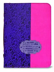 Bible Cover-delight Yourself-x Large 24082