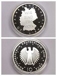 Frg 10 Ft Silver 20 Years German Unit With Certificate