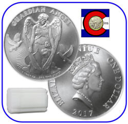 2017 Niue Guardian Angel 1 Oz Silver 1 Coin -- Roll/tube Of 20 Coins