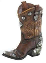 Cowboy Boot Vase Flower Decor Home Western Rustic Gift Wedding Table Home New