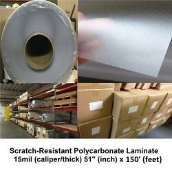 Polycarbonate Lexanandtrade Laminate Velvet-texture Self-adhesive Roll 15mil 51 X 150and039