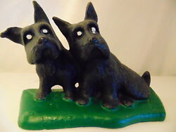 Scottie  Dog  Cast  Iron  Doorstop    Scottish Terrier