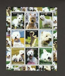 ON SALE!  WEST HIGHLAND WHITE TERRIER**Int'l Dog Stamp Sheet**Great Westie Gift*