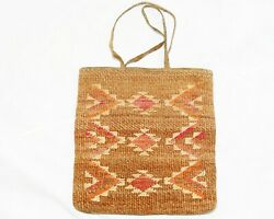 Native American Corn Husk Bag Double Sided Designs