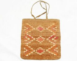 Native American Corn Husk Bag Double Sided Designs $900.00