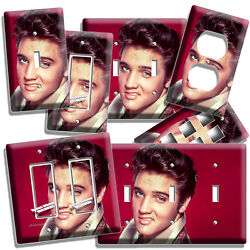 ELVIS PRESLEY SEXY SMILE BLUE EYES LIGHT SWITCH PLATE OUTLET ROOM HOME ART DECOR