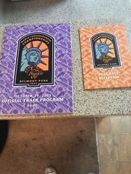 Breeders Cup Official Program N Vip Rection Ticket