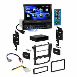Planet Audio Car Motorized DVD Stereo Dash Kit Harness for 07-12 Nissan Altima
