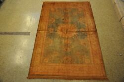 Hand-knotted Rug 5x8 Rugs Discount Prices Silk Slate Blue - Gold