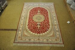Most Valuable Hand-knotted Rug 6' X 9' Silk Red Eco-friendly
