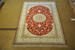 Red And White Shed Free High Quality Handmade Carpet 6x9 Silk