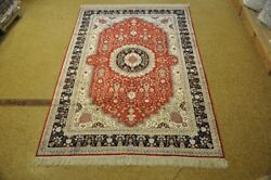 Silk And Cottton Red Oriental Rugs For Sale New Handmade Rug 6and039 X 9and039