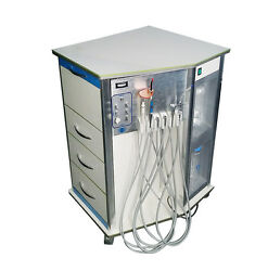 550W Dental Portable Delivery System Cart Unit W Light Cure treat 3 Way Syringe