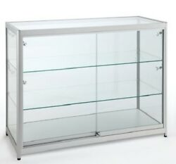 High Class Aluminum Museum Shop Glass Counter Display Cabinet Home Storage 1555a