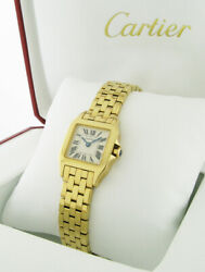 GORGEOUS 18k CARTIER SANTOS DAMOISELLE Ladies WATCH 2699 Nr MINT 98% NEW w/BOX!!