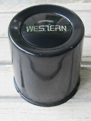 Nos 1970and039s 80and039s Vintage Western Wheels Steel Center Cap Black Painted 3-1/4 T2