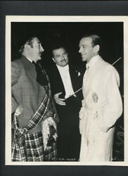 Fred Astaire + Adolphe Menjou + Xavier Cugat - 1942 Doubleweight Vintage Photo
