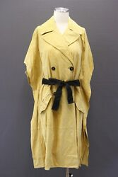 Nwt7745 Brunello Cucinelli Women Leather Suede Mohair Belted Db Overcoat42 A181