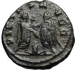 Gallienus And Father Valerian I At Altar Authentic Ancient 255ad Roman Coin I67212