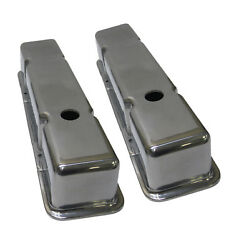 Aluminum Smooth Small Block Chevy Tall Valve Covers 283 305 350 5.0 5.7 Sbc
