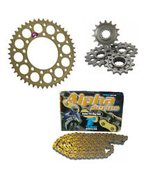 Ducati M1000s Monster 03 - 04 Renthal And Tsubaki 520 Race Chain And Sprocket Kit