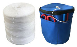 6300and039 Polypropylene Tomato Twine + Reusable Twine Dispenser Bag Value Pack