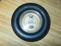 Vintage Tire Ashtray Goodrich Tire With Cooper Paper Label Insert