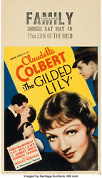 Movie Poster The Gilded Lily 1935 Window Card 8x14 Nm 9.0 Claudette Colbert