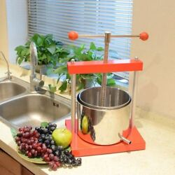 Fruit Press 0.8 Gallon Press Aluminum Stainless Steel Tincture Cheese Wine Ejwox