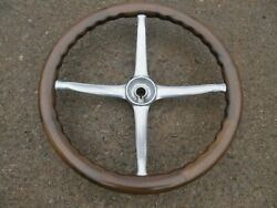 Restored Show Quality 1920and039s Walnut Steering Wheel Buick Olds Chevy Ford Stutz