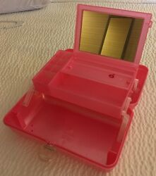 CABOODLES CASE MAKEUP ORGANIZER ON THE GO GIRL COSMETIC FOR TRAIN OR TRAVEL PINK $17.99