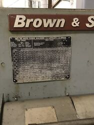 Brown And Sharpe 00 6 Station 1/2cap 2speed 3ph 1 Spindle Auto Screw Machine