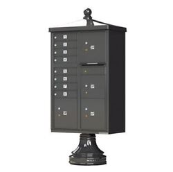 Vital Cluster Box Unit W/vogue Traditional Accessories 8 Mailboxes And 4 Parcel L