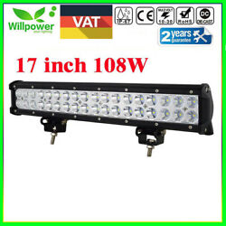 17inch 108w Cree Led Driving Work Light Bar Combo Fog Lamp Jeep Truck Offroad 18
