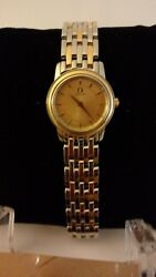 Lady Omega De Ville Prestige Champagne Dial 18k Gold And Stainless Steel阿咪咖女仕名錶