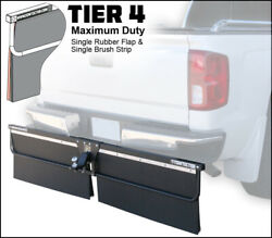 Towtector Mud Flap 96 Wide 26 Tall Rubberandbrush For 2 Receiver