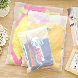 Clothes Storage Bag Plastic Slide Seal Matte Clear Travel Cosmetic Packing Pouch